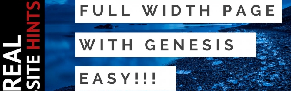Make Pages easily with the Genesis Theme and the Beaver Builder Plugin Tutorial