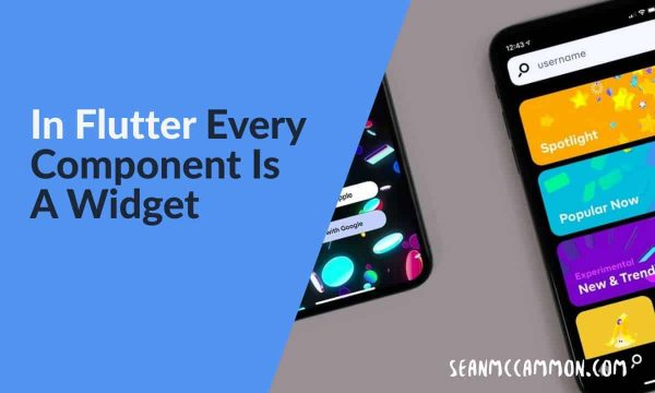 Mobile Development - In Flutter Every Component Is A Widget